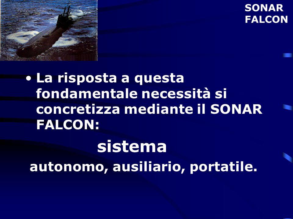 SONARFALCON. La risposta a questa fondamentale necessità si concretizza mediante il SONAR FALCON: sistema.
