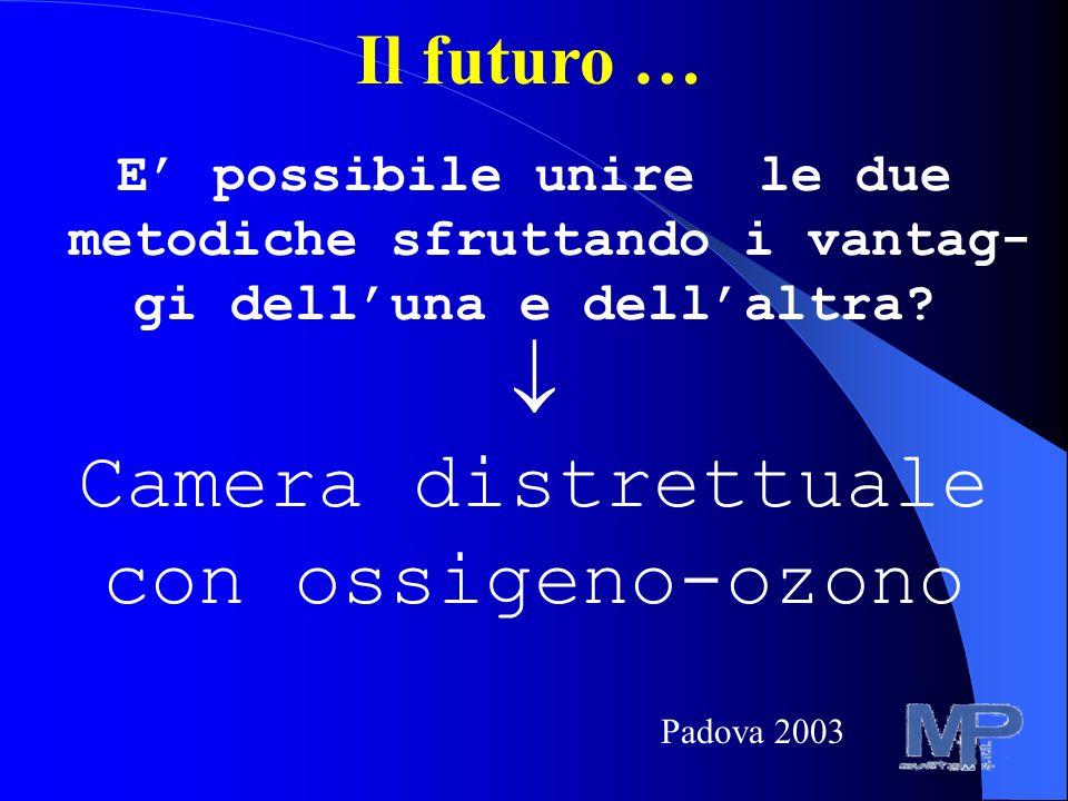  Camera distrettuale con ossigeno-ozono Il futuro …