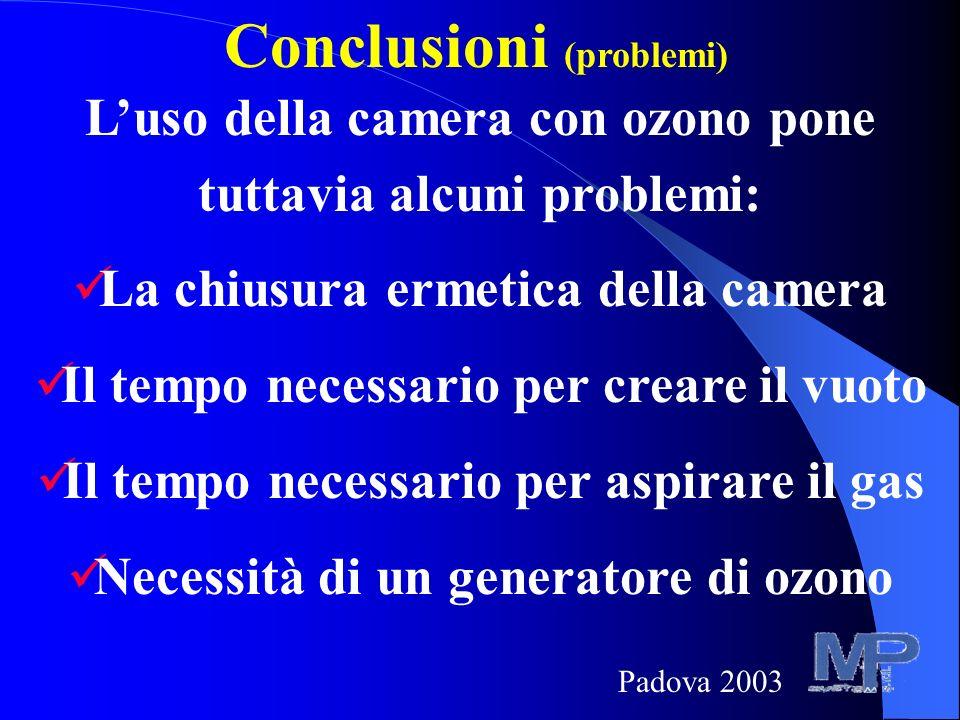 Conclusioni (problemi)