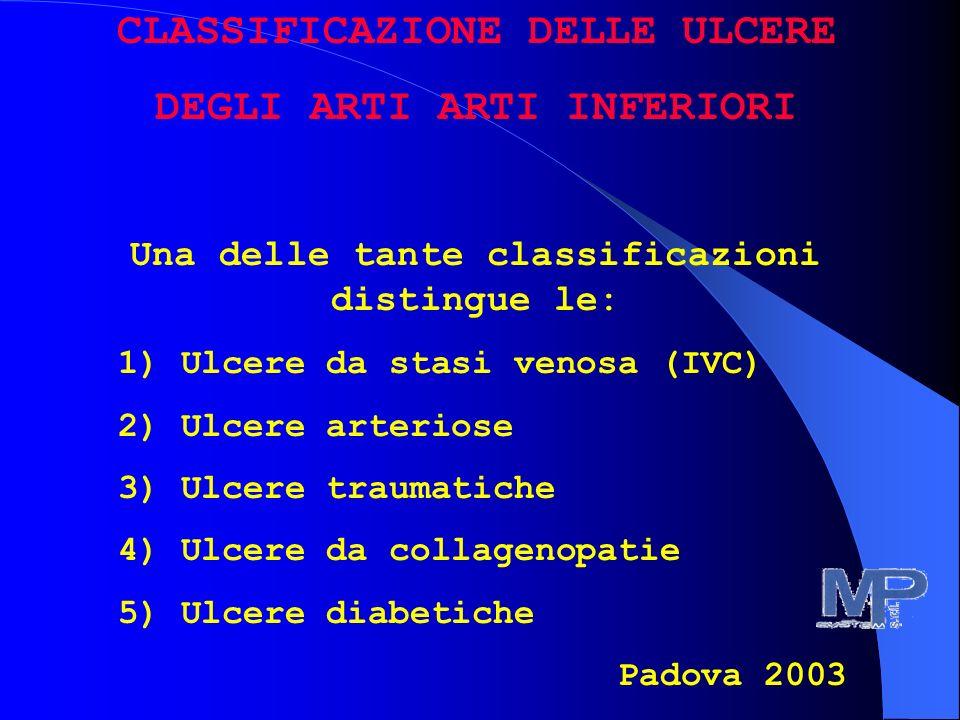 CLASSIFICAZIONE DELLE ULCERE DEGLI ARTI ARTI INFERIORI