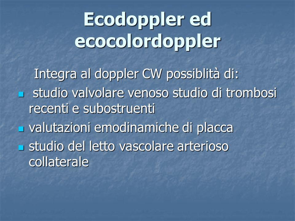 Ecodoppler ed ecocolordoppler