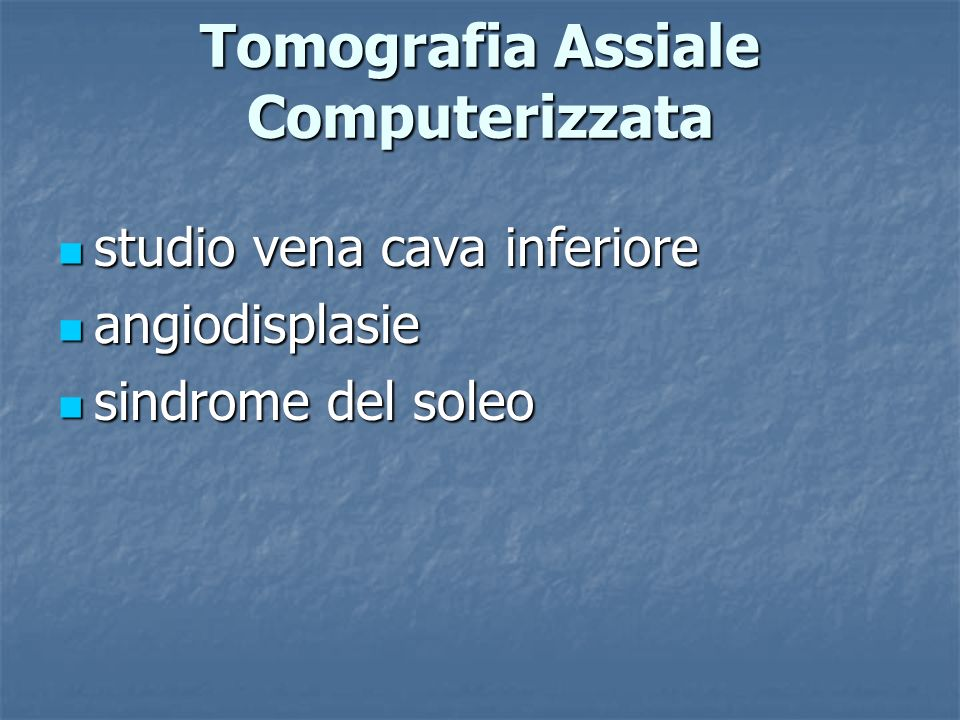 Tomografia Assiale Computerizzata