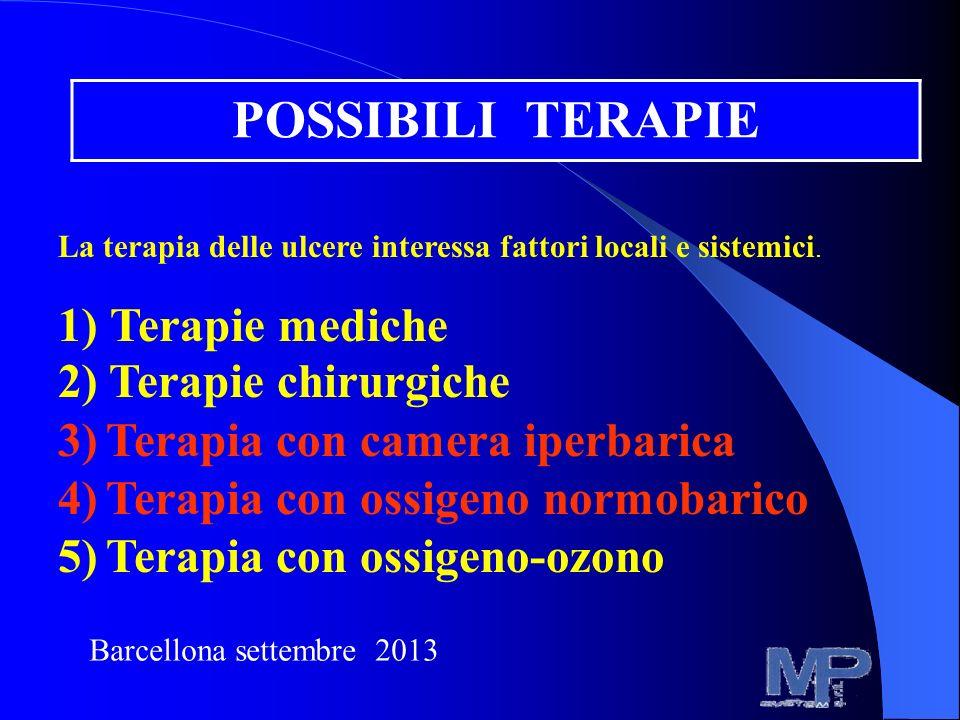 POSSIBILI TERAPIE 1) Terapie mediche 2) Terapie chirurgiche