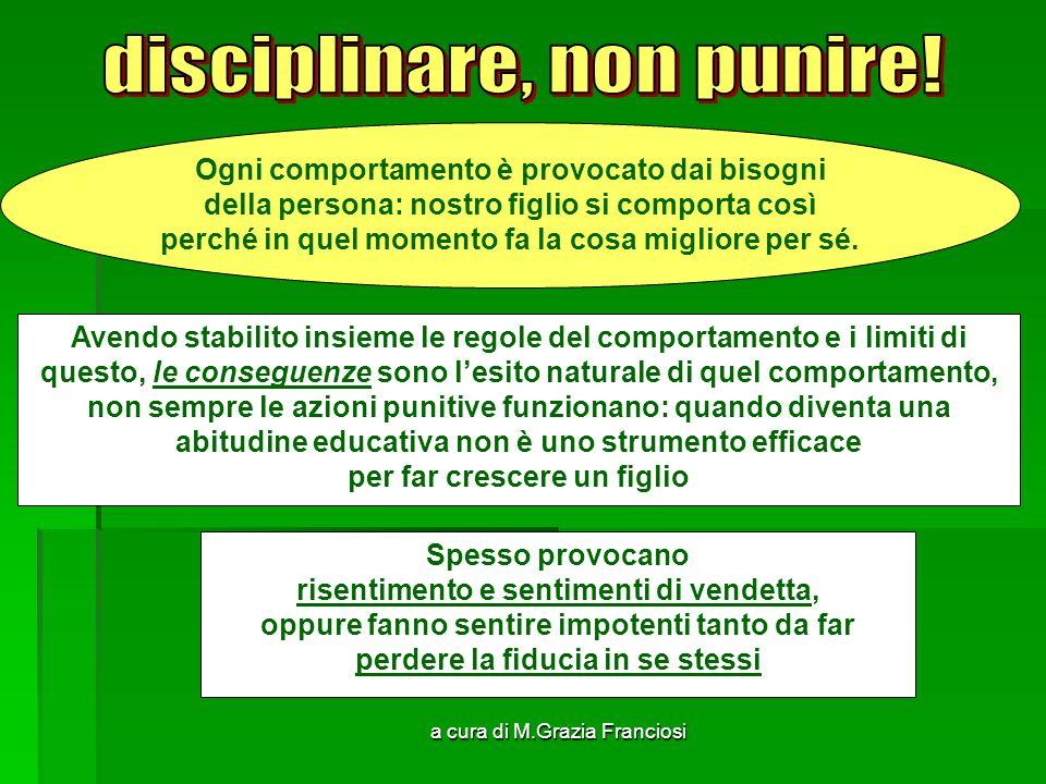 disciplinare, non punire!