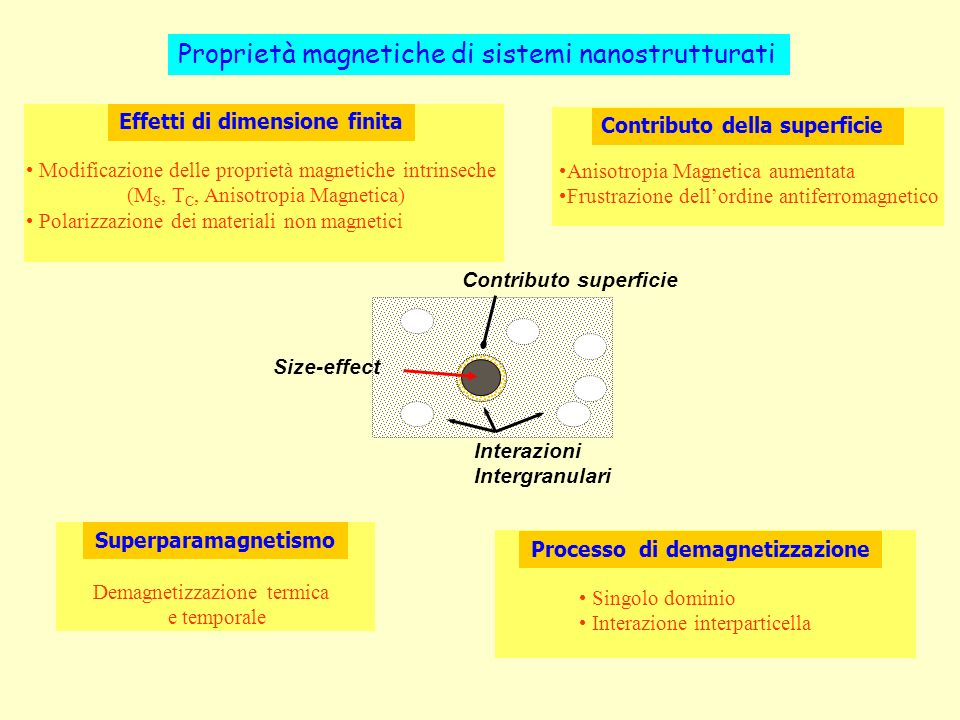 Proprietà magnetiche di sistemi nanostrutturati