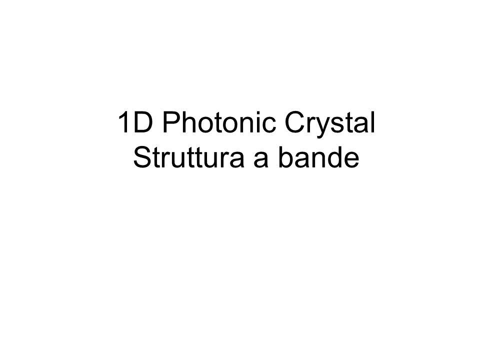 1D Photonic Crystal Struttura a bande
