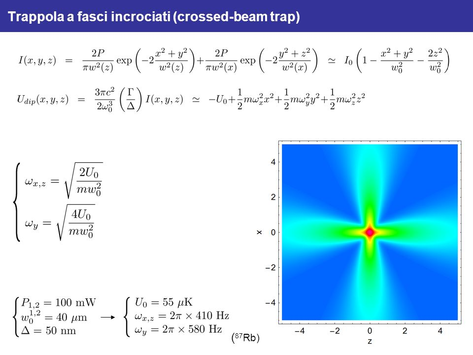 Trappola a fasci incrociati (crossed-beam trap)