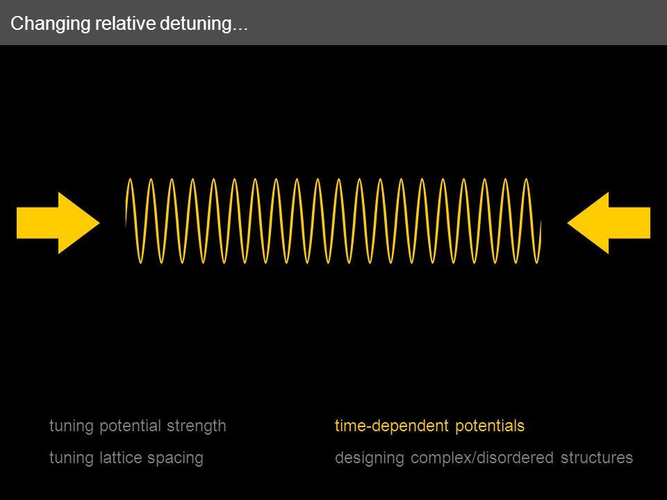 Changing relative detuning...