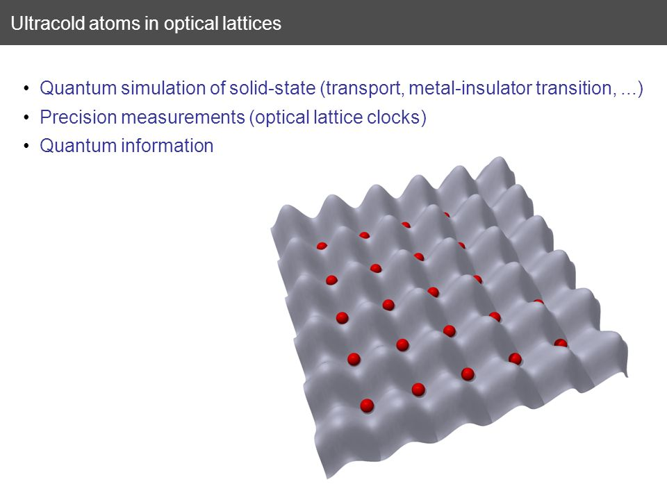 Ultracold atoms in optical lattices