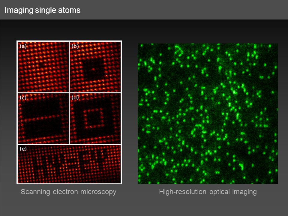 Imaging single atoms Scanning electron microscopy