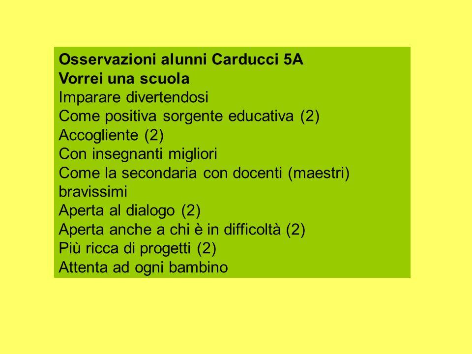 Osservazioni alunni Carducci 5A