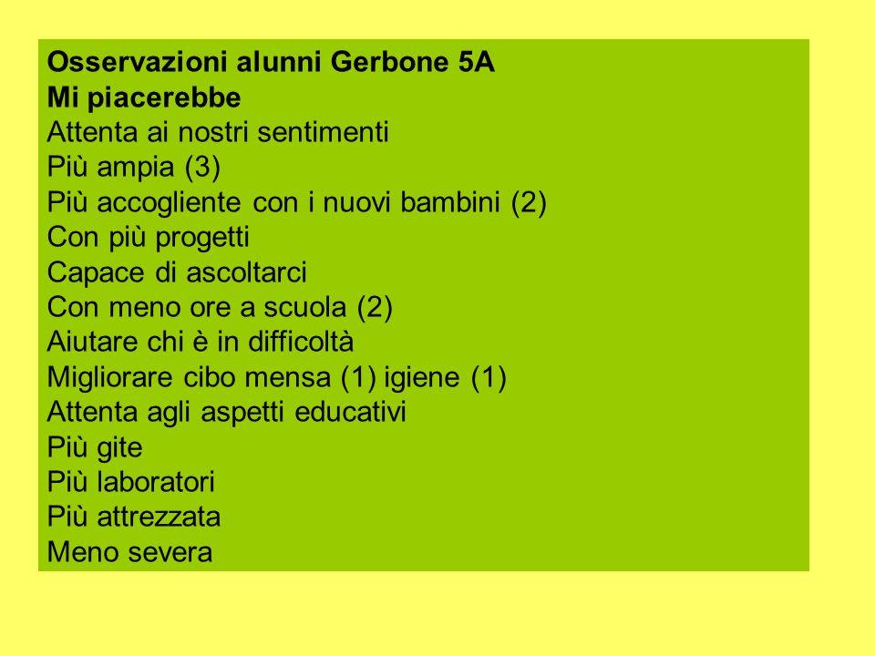 Osservazioni alunni Gerbone 5A