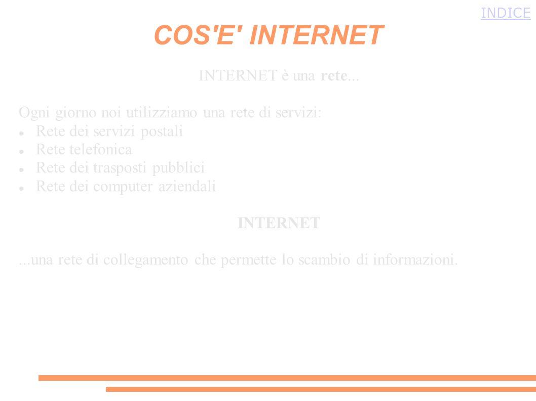 COS E INTERNET INTERNET è una rete...
