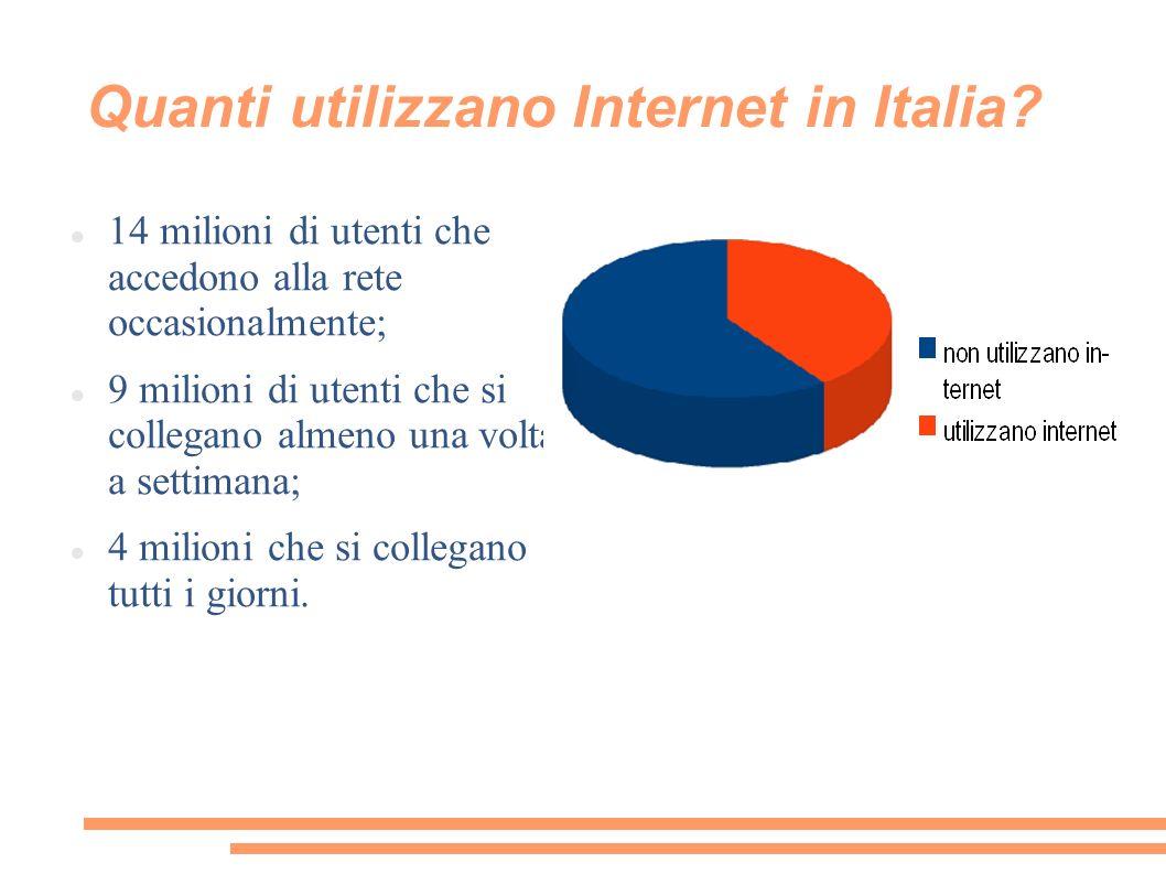 Quanti utilizzano Internet in Italia