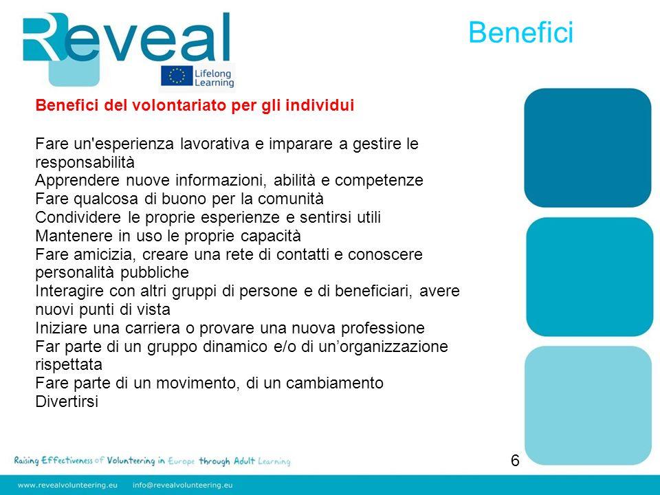 Benefici Benefici del volontariato per gli individui