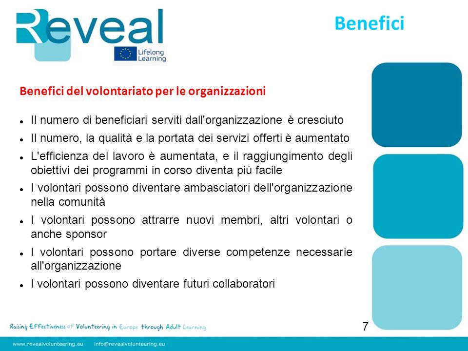 Benefici Benefici del volontariato per le organizzazioni
