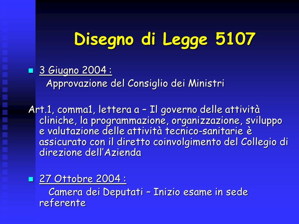Disegno di Legge 5107 3 Giugno 2004 :
