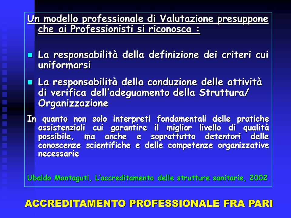 La responsabilità della definizione dei criteri cui uniformarsi