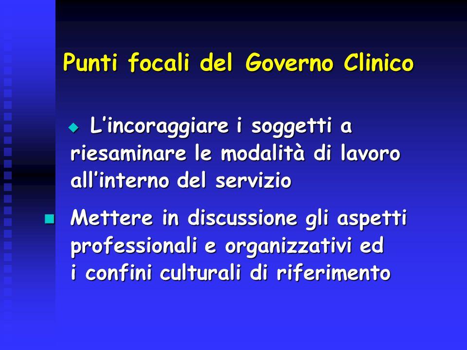 Punti focali del Governo Clinico