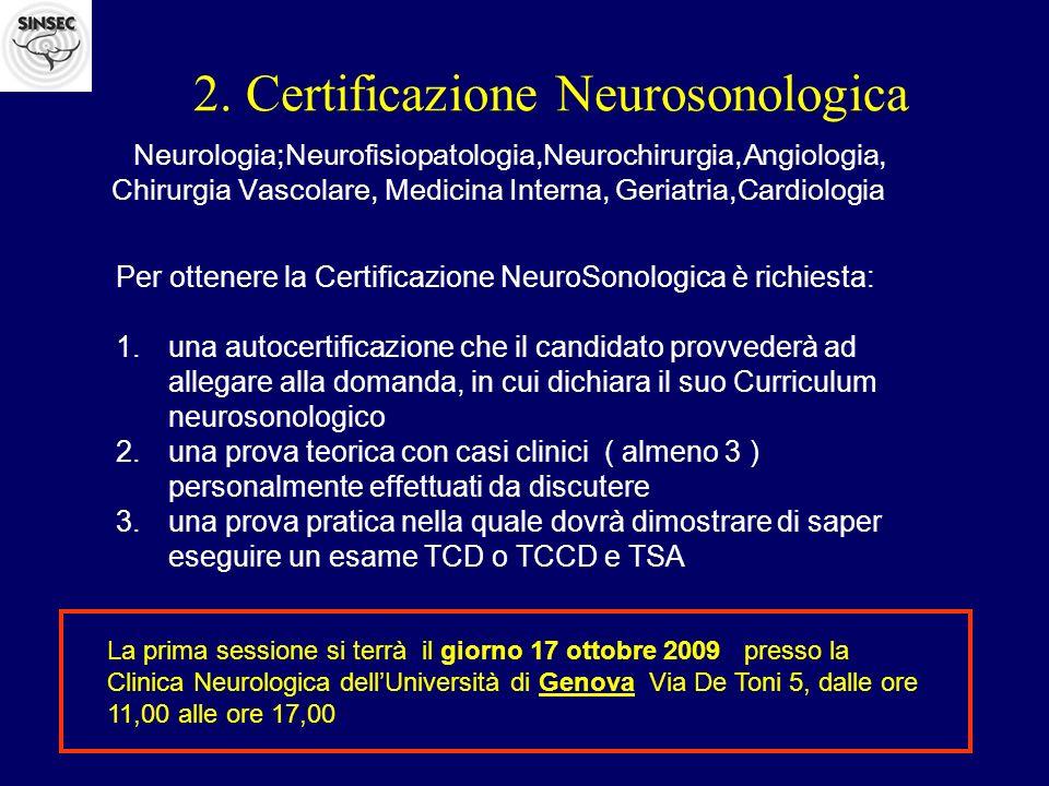 2. Certificazione Neurosonologica