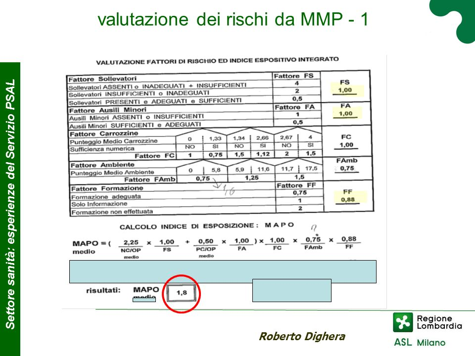 valutazione dei rischi da MMP - 1
