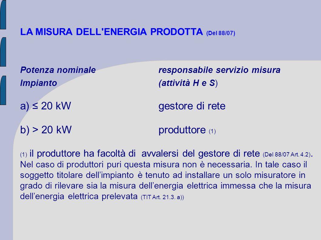 b) > 20 kW produttore (1)