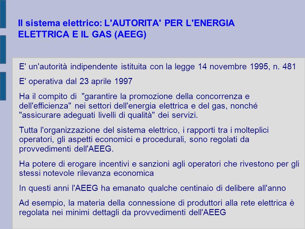 CONNESSIONE DI PRODUTTORI ALLA RETE ELETTRICA