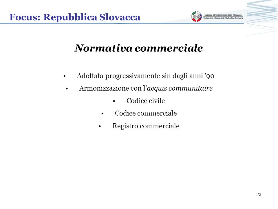 Normativa commerciale