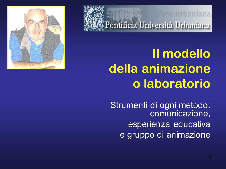 Il modello della animazione o laboratorio