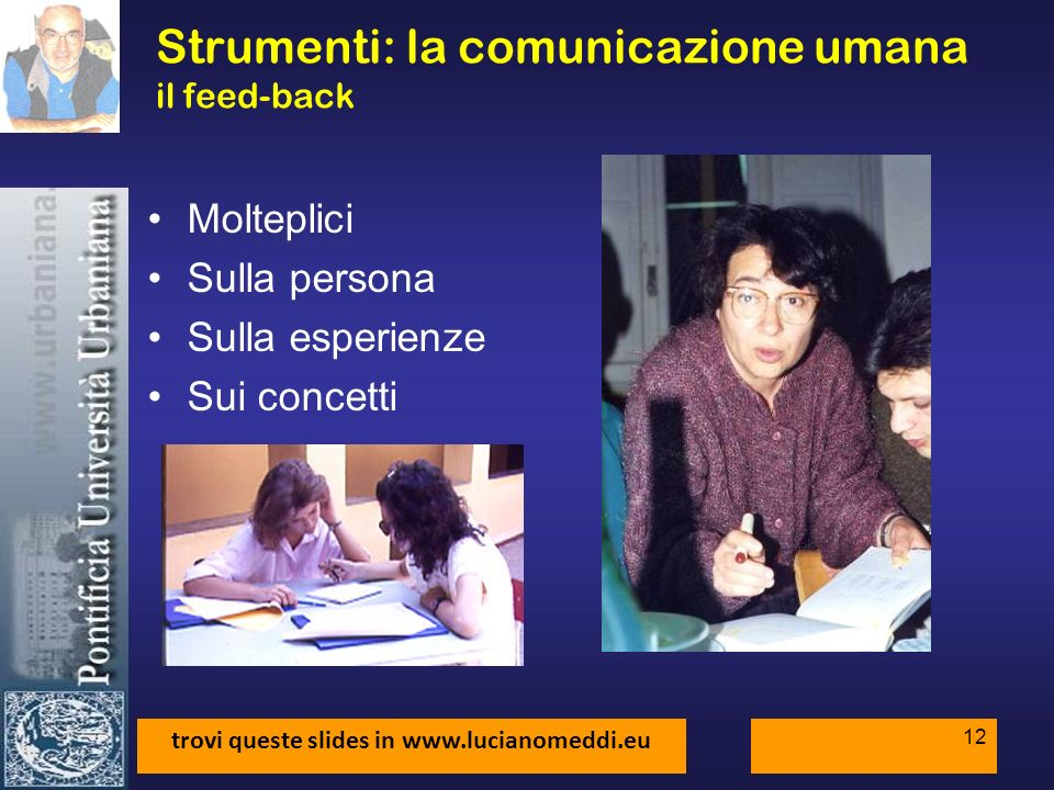 Strumenti: la comunicazione umana il feed-back