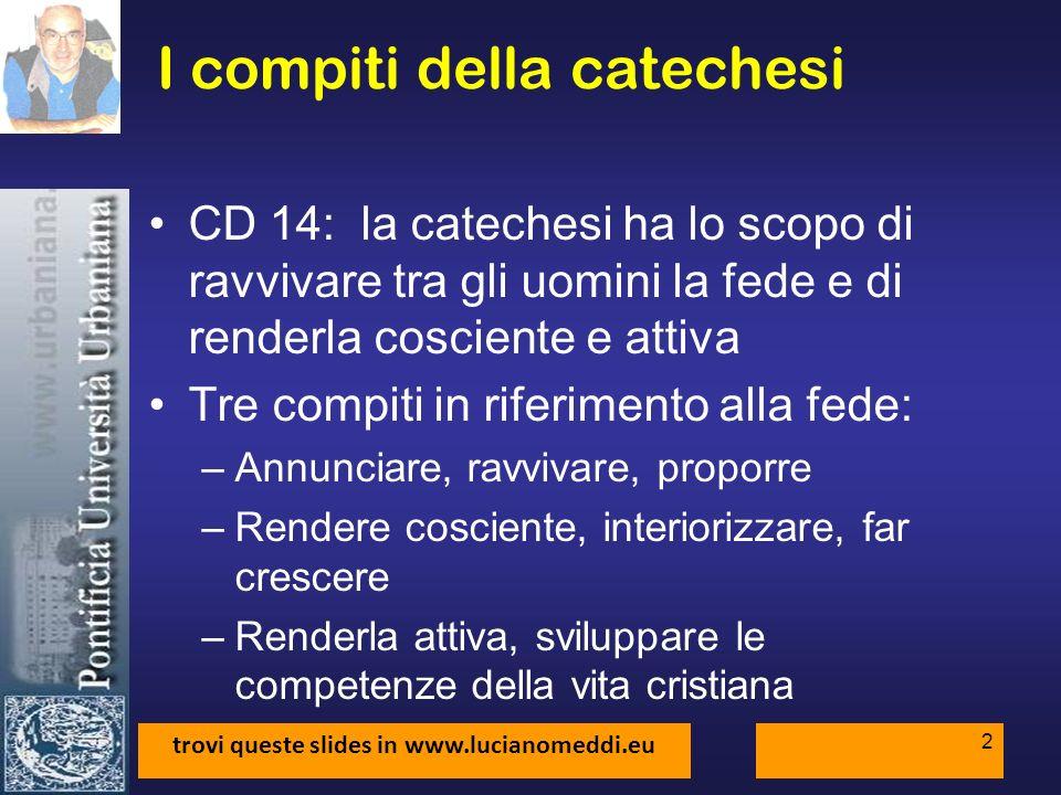 I compiti della catechesi