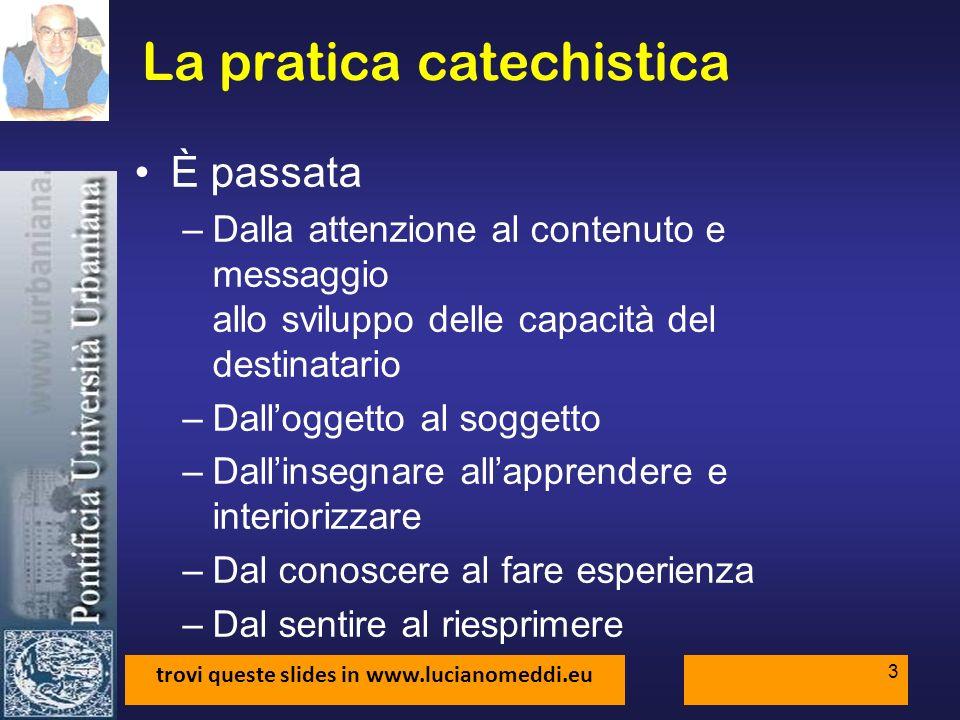 La pratica catechistica
