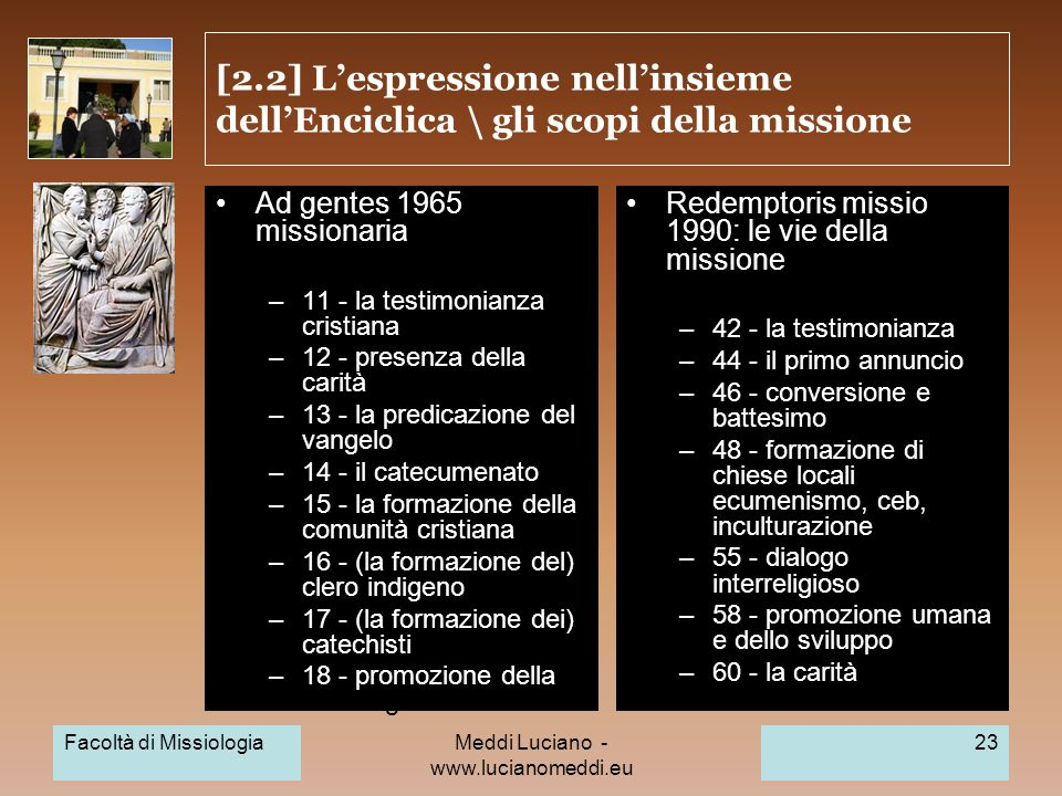 MLE 2009: Nuova evangelizzazione: compiti e nuovi areopaghi