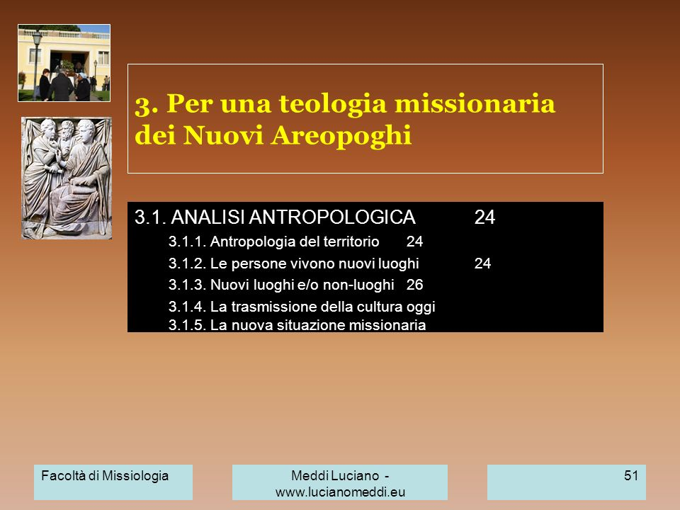 3. Per una teologia missionaria dei Nuovi Areopoghi