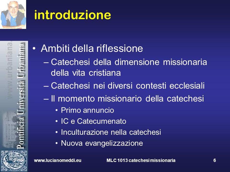 MLC 1013 catechesi missionaria