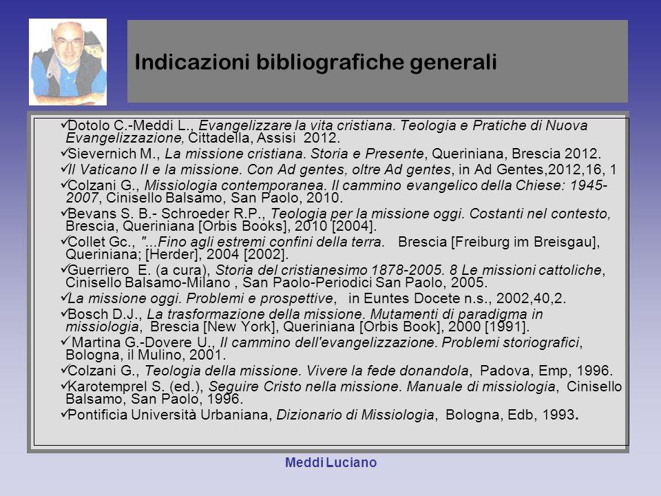 Indicazioni bibliografiche generali