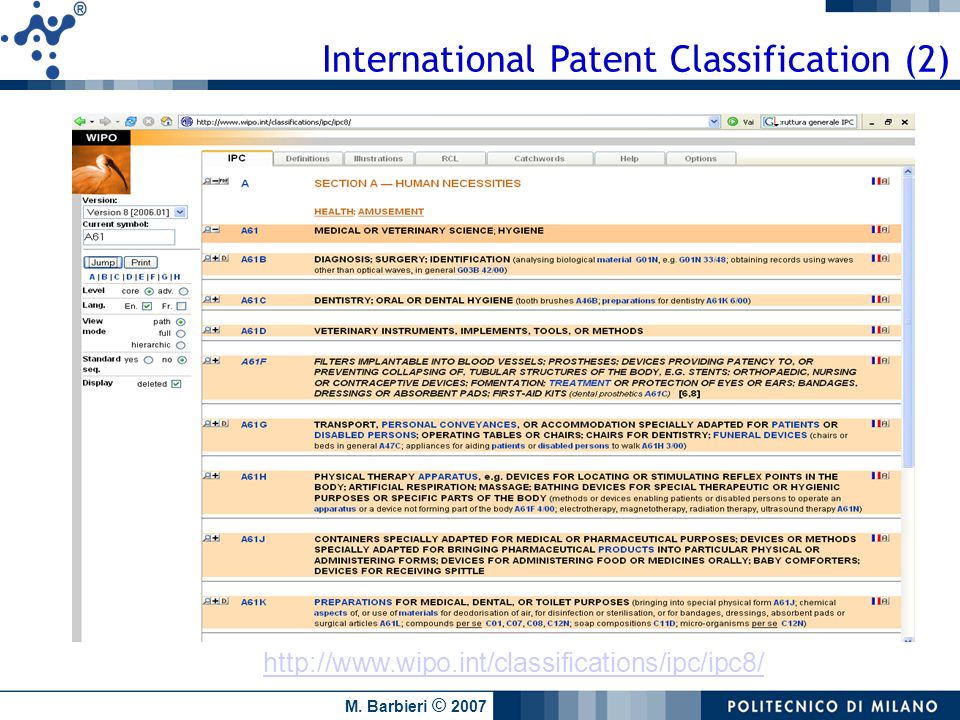 International Patent Classification (2)