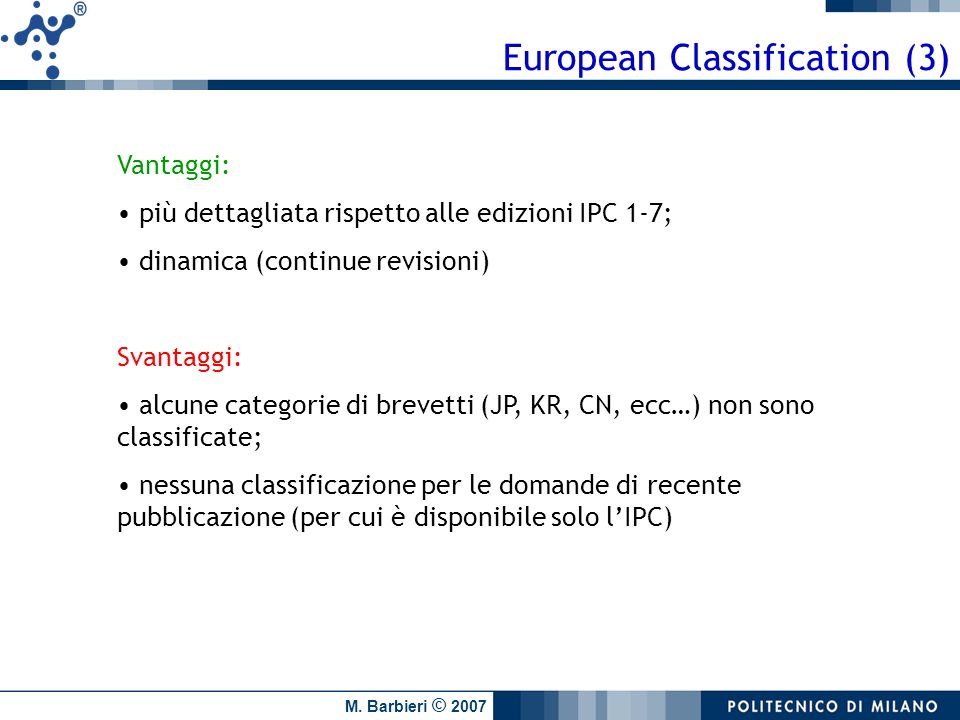 European Classification (3)