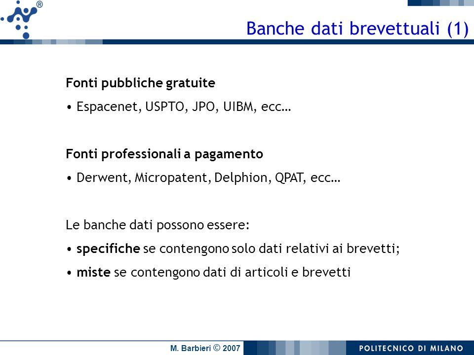 Banche dati brevettuali (1)