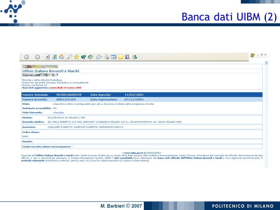 Banca dati UIBM (2)