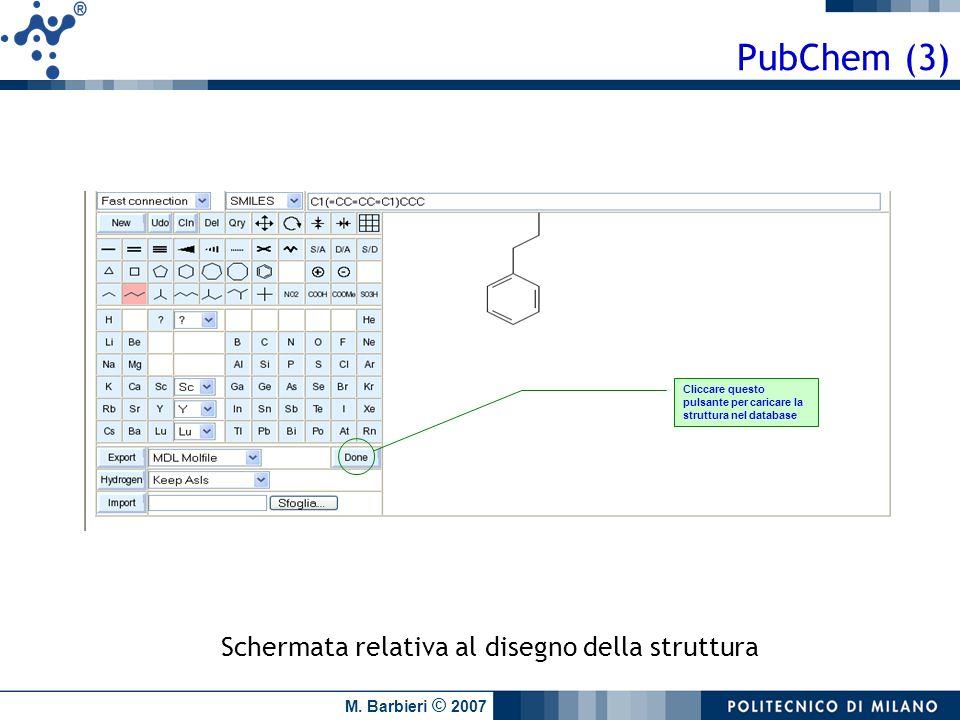 PubChem (3) Schermata relativa al disegno della struttura