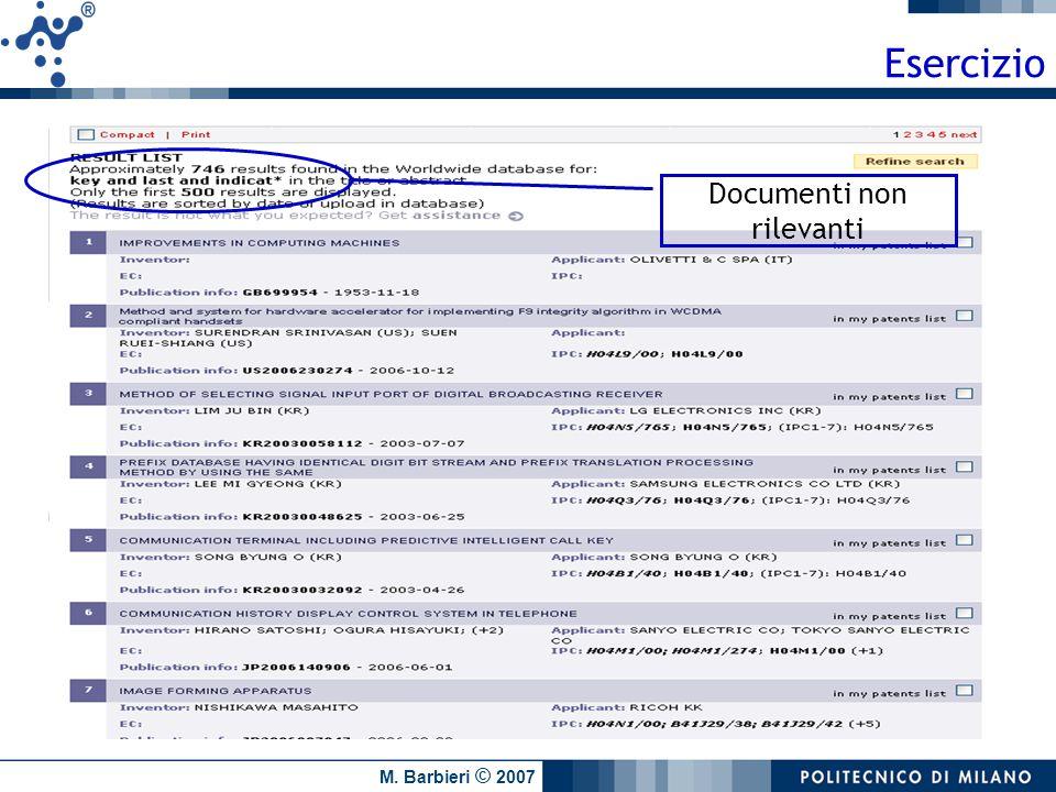 Documenti non rilevanti