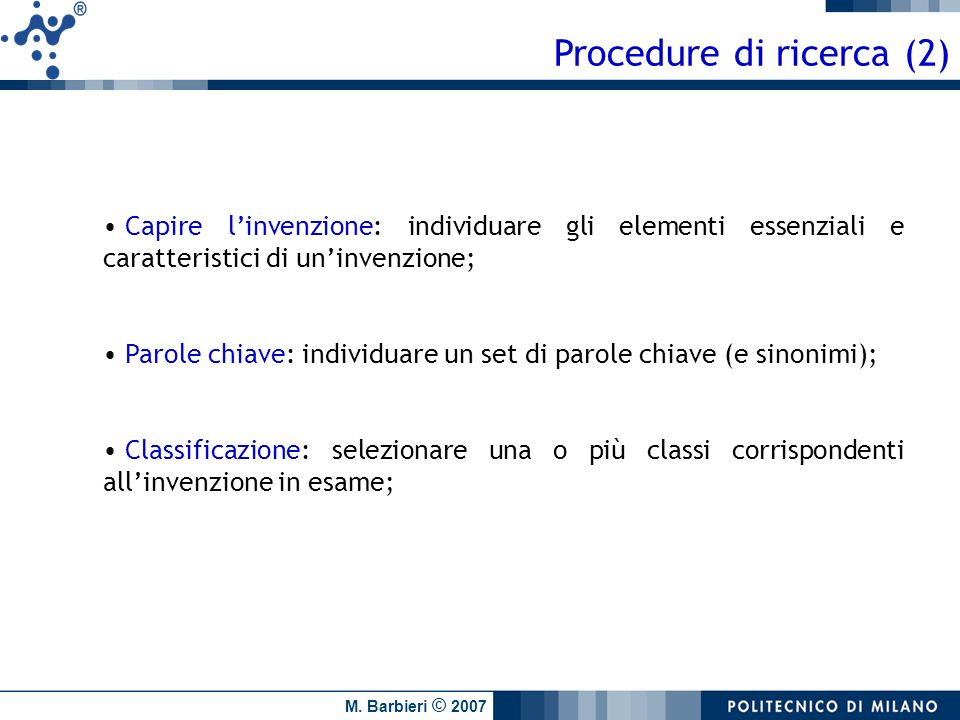 Procedure di ricerca (2)