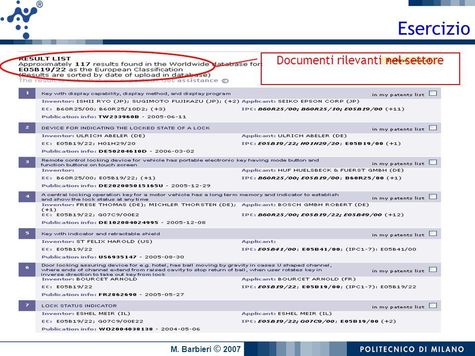 Documenti rilevanti nel settore