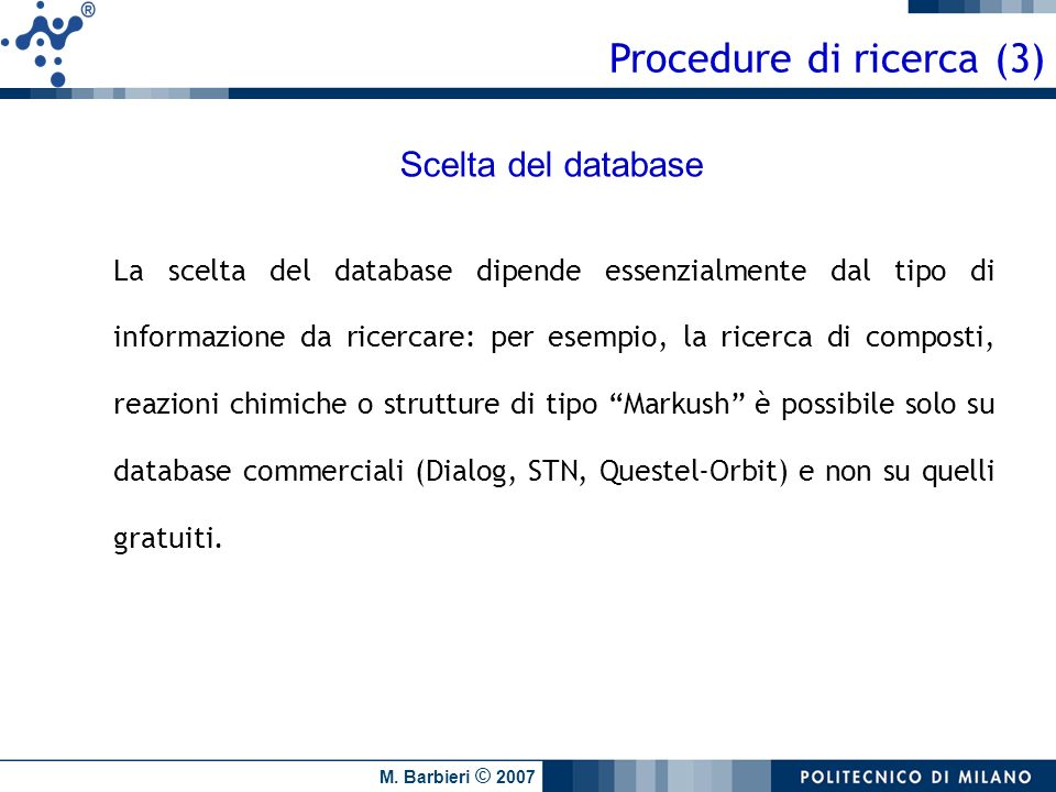 Procedure di ricerca (3)