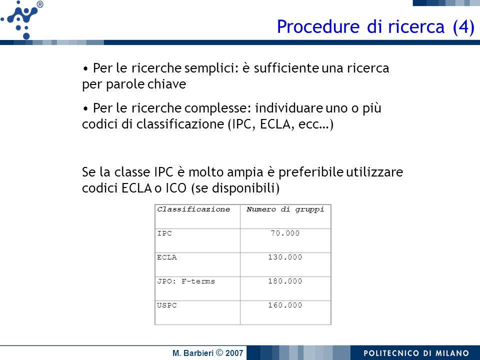 Procedure di ricerca (4)