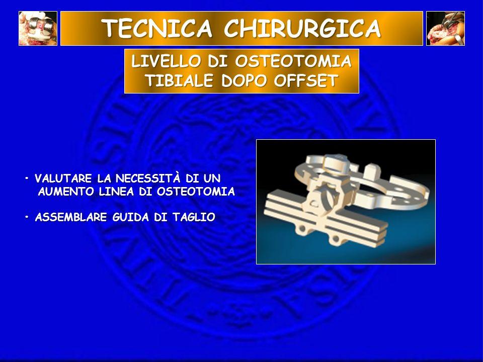 LIVELLO DI OSTEOTOMIA TIBIALE DOPO OFFSET