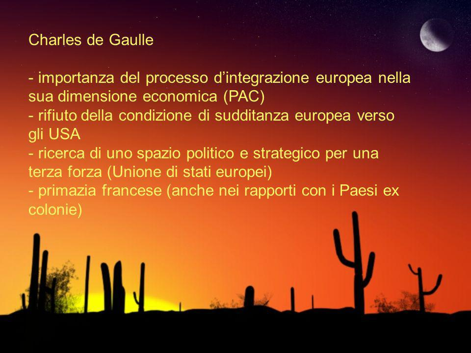 Charles de Gaulle importanza del processo d'integrazione europea nella sua dimensione economica (PAC)