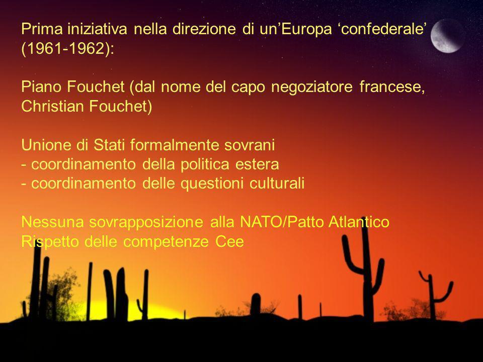 Prima iniziativa nella direzione di un'Europa 'confederale' (1961-1962):