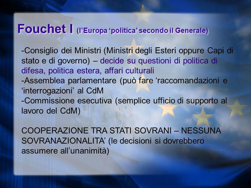 Fouchet I (l'Europa 'politica' secondo il Generale)